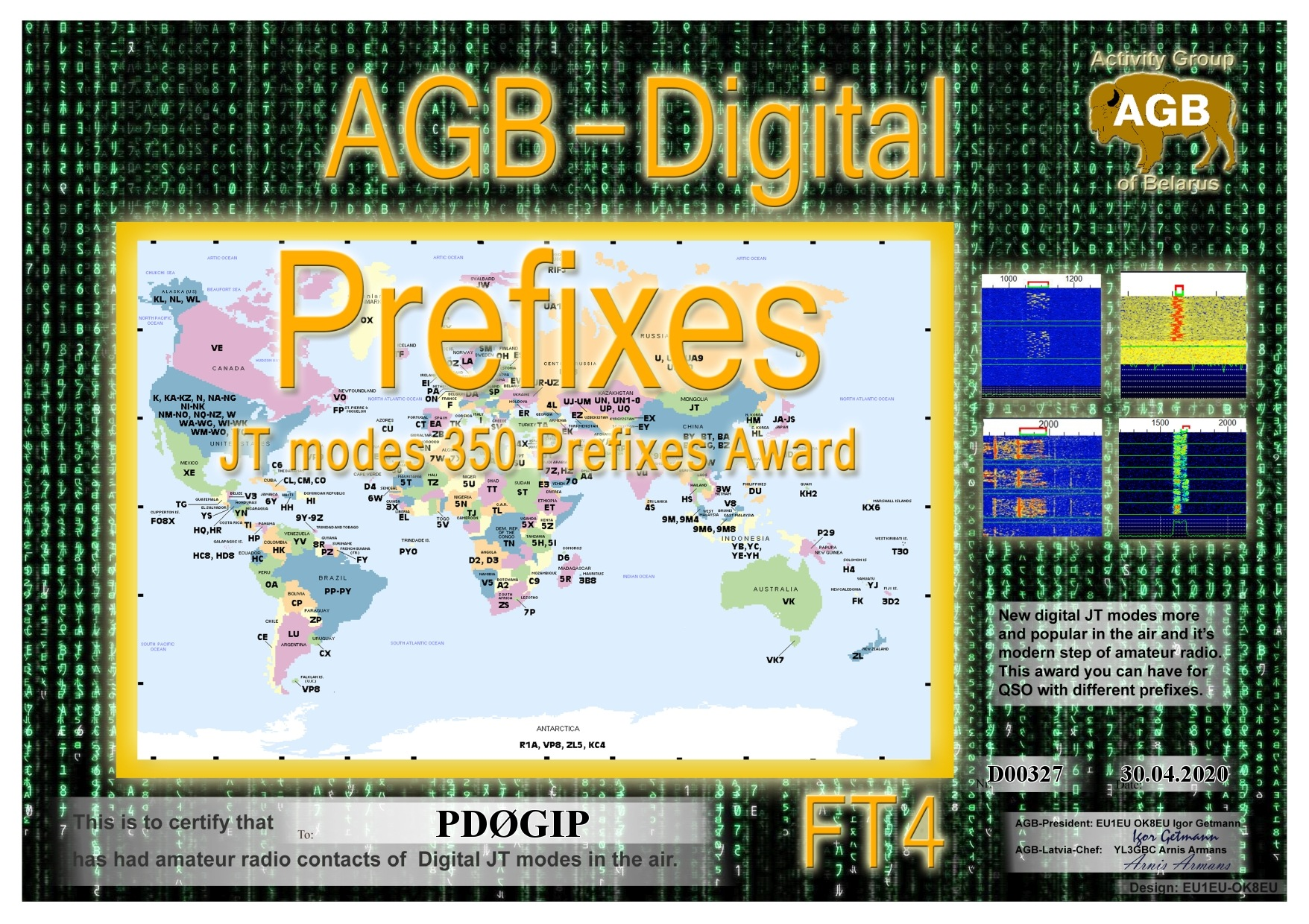 PD0GIP PREFIXES FT4 350 AGB