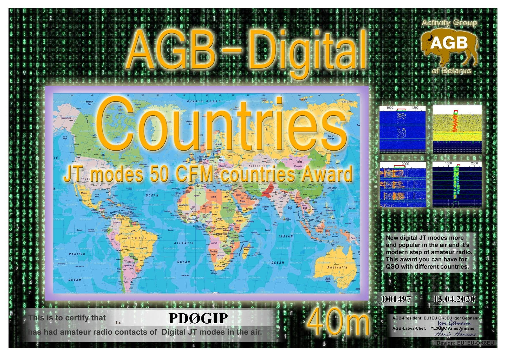 PD0GIP COUNTRIES 40M 50 AGB
