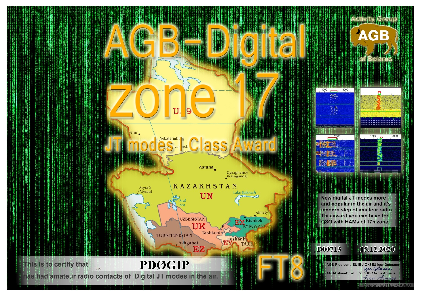 PD0GIP ZONE17 FT8 I AGB