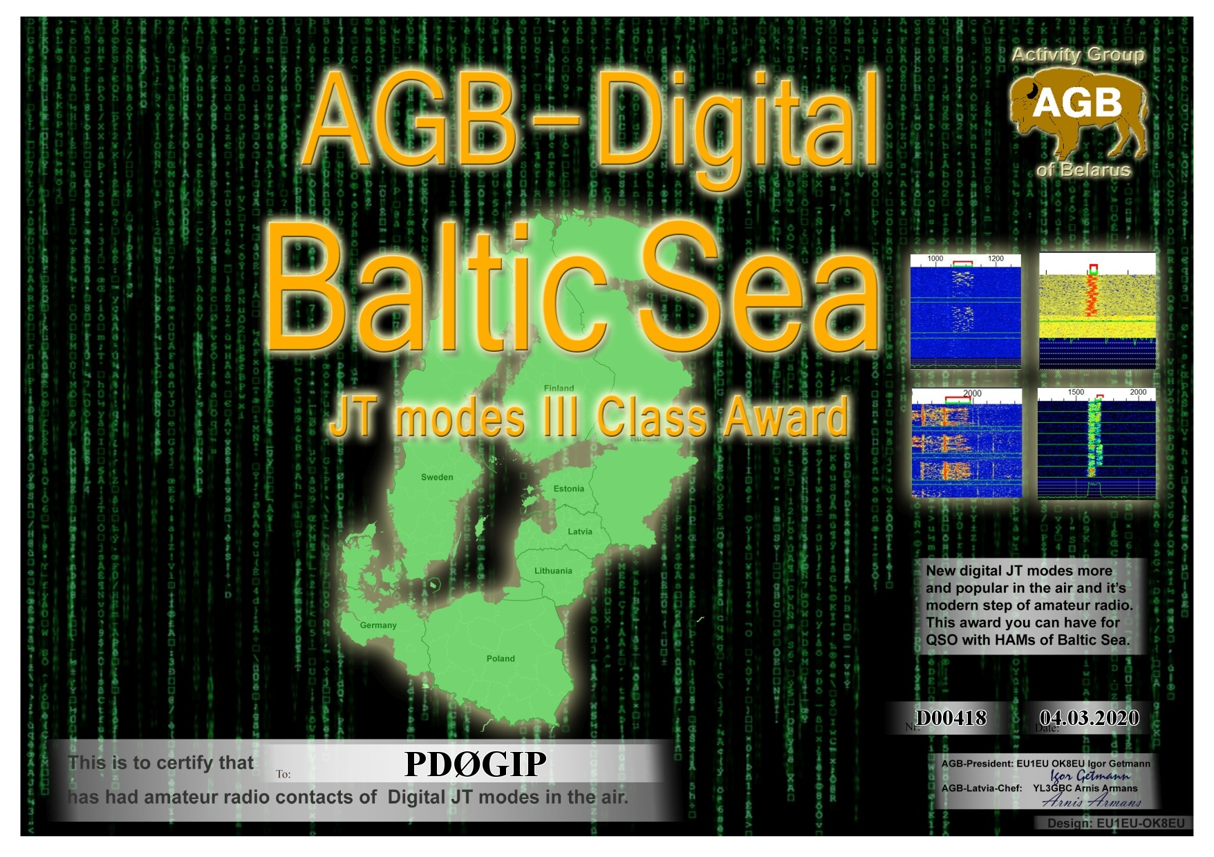 PD0GIP BALTICSEA BASIC III AGB