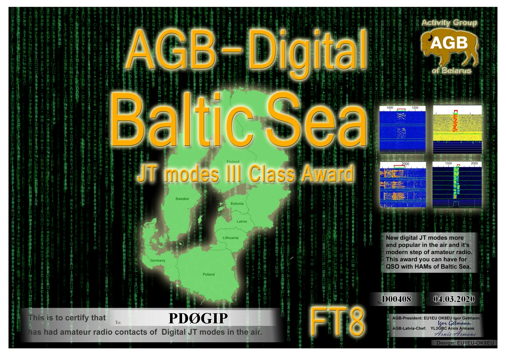 PD0GIP BALTICSEA FT8 III AGB