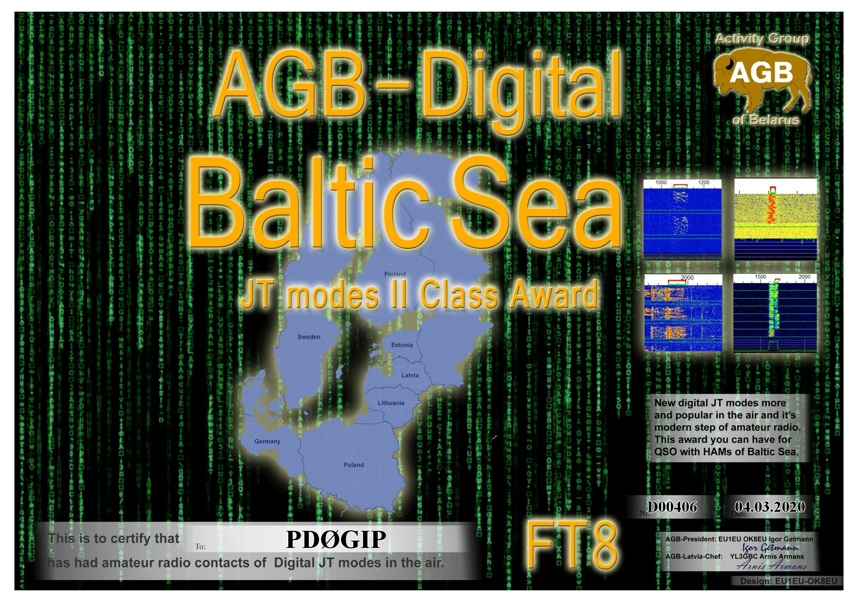 PD0GIP BALTICSEA FT8 II AGB