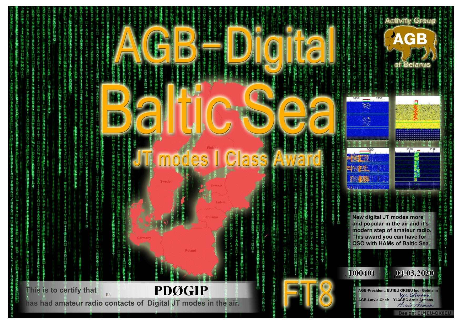 PD0GIP BALTICSEA FT8 I AGB