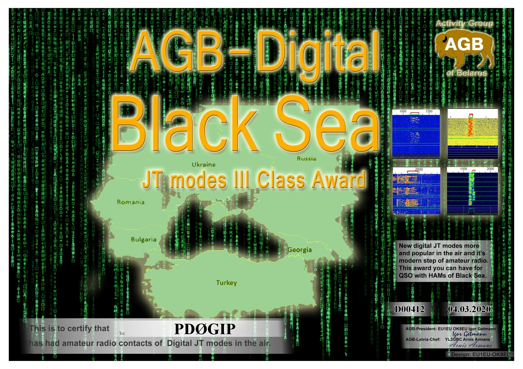 PD0GIP BLACKSEA BASIC III AGB