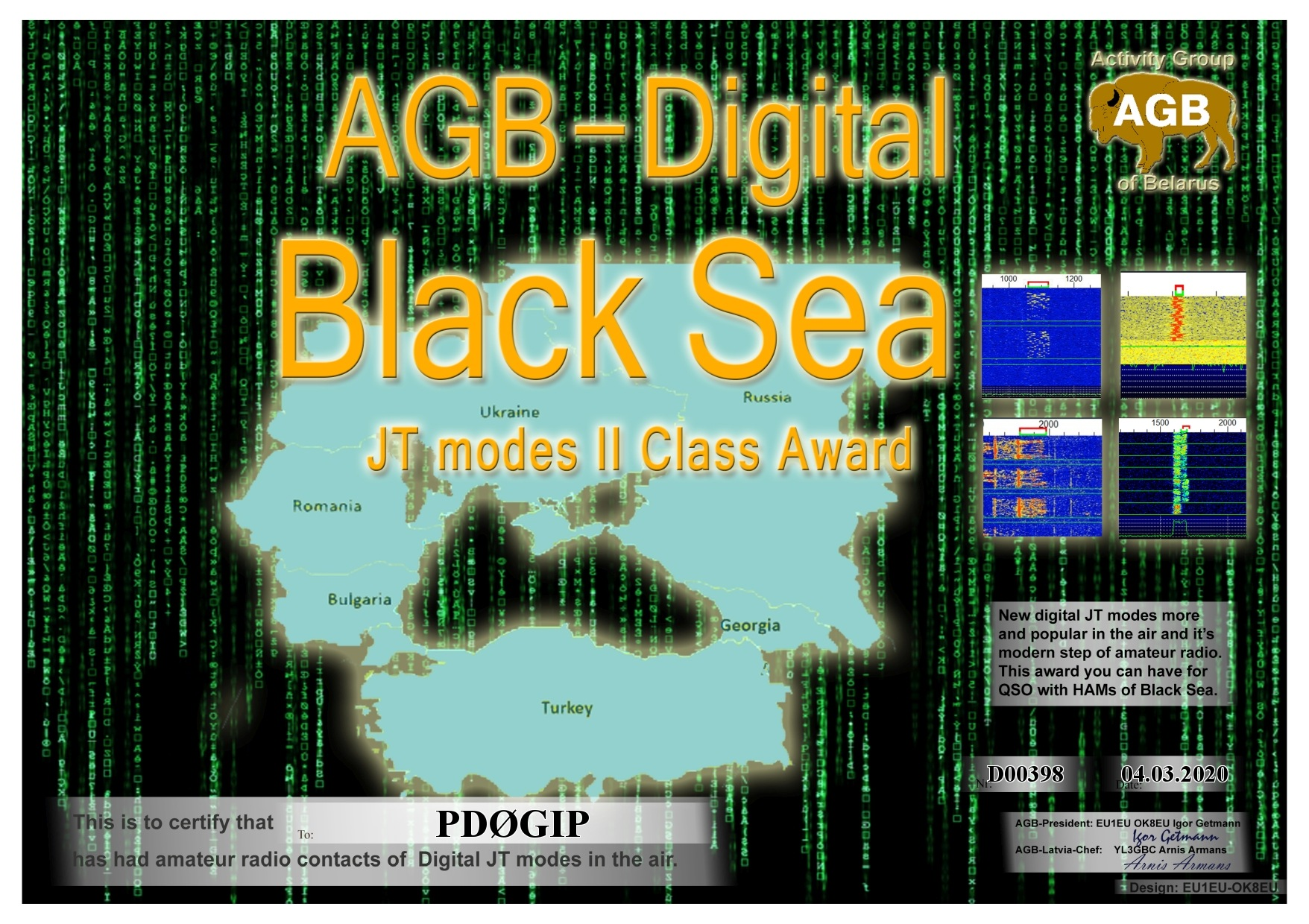 PD0GIP BLACKSEA BASIC II AGB