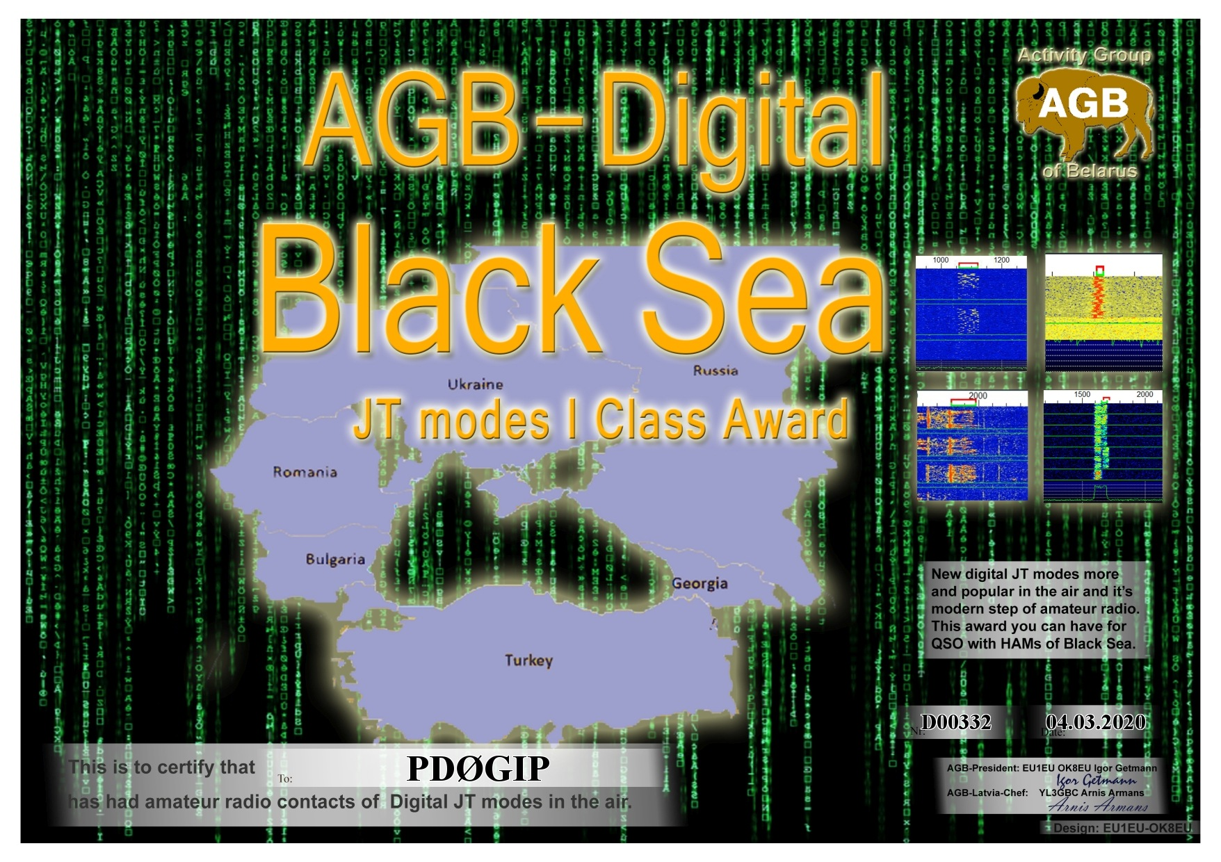 PD0GIP BLACKSEA BASIC I AGB