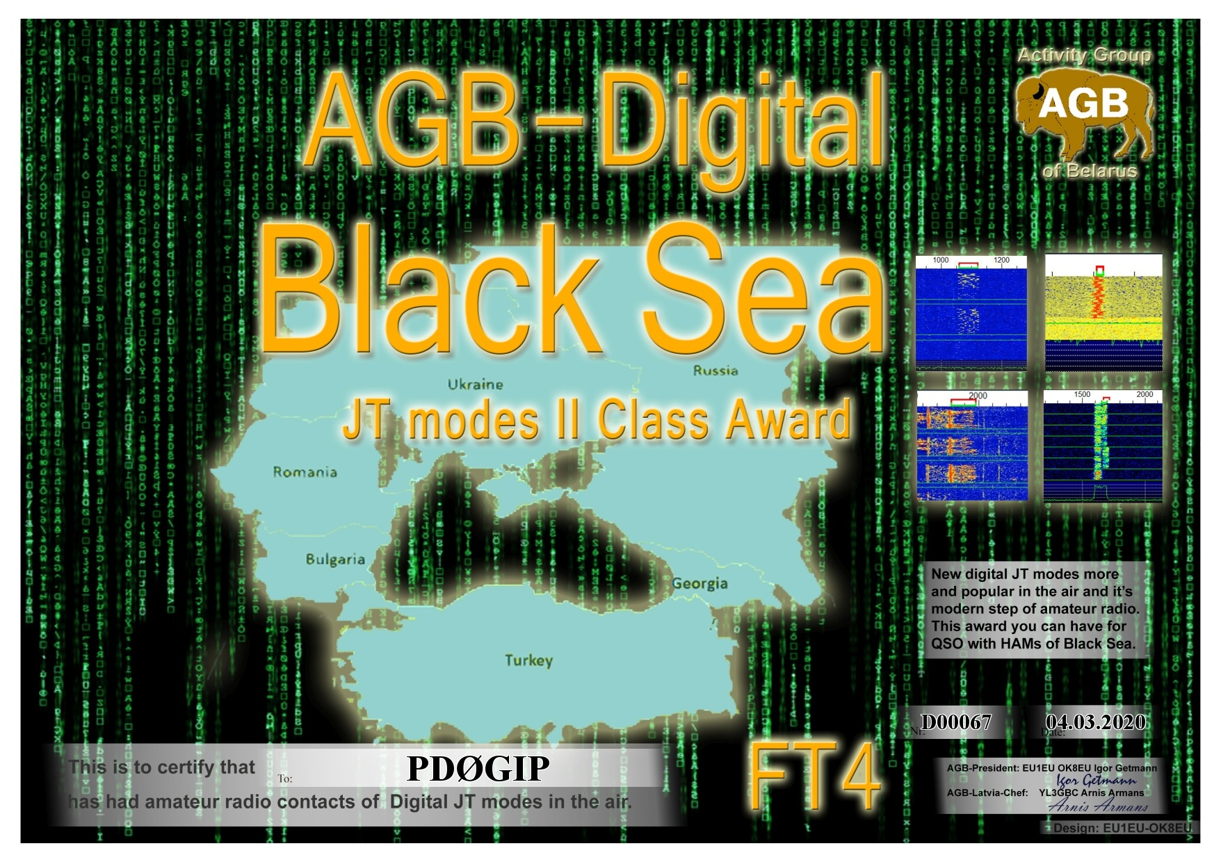 PD0GIP BLACKSEA FT4 II AGB