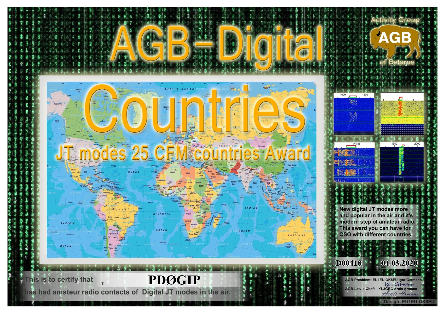 PD0GIP COUNTRIES BASIC 25 AGB