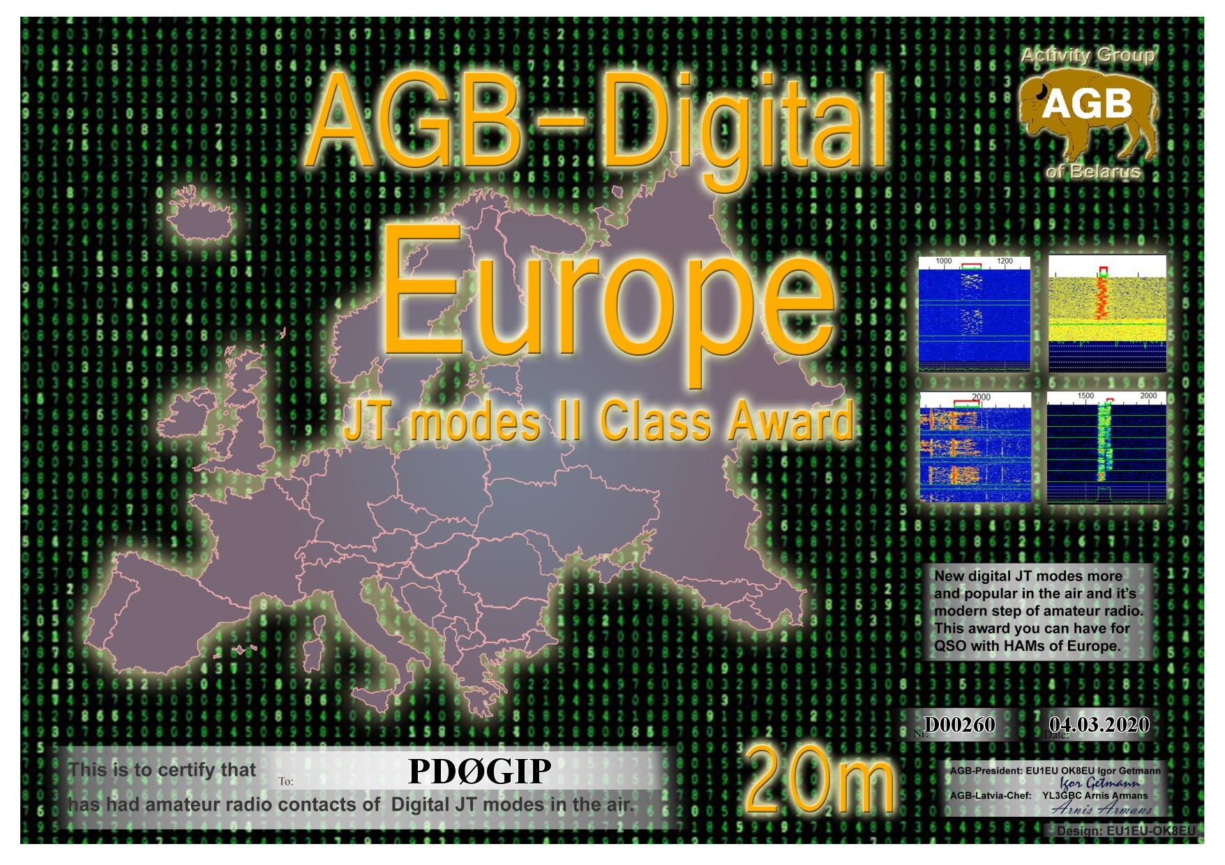 PD0GIP EUROPE 20M II AGB