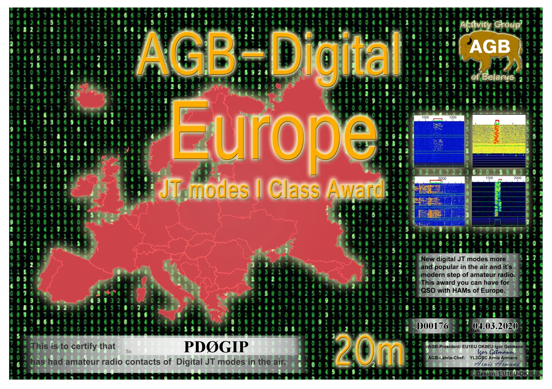 PD0GIP EUROPE 20M I AGB