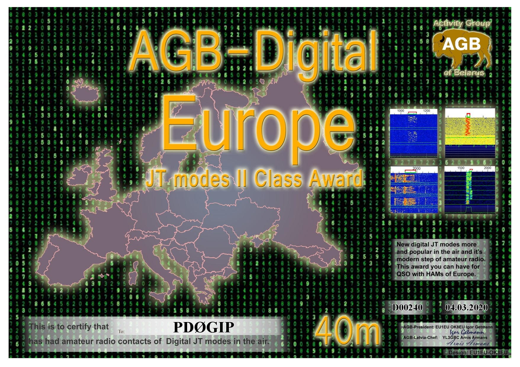 PD0GIP EUROPE 40M II AGB