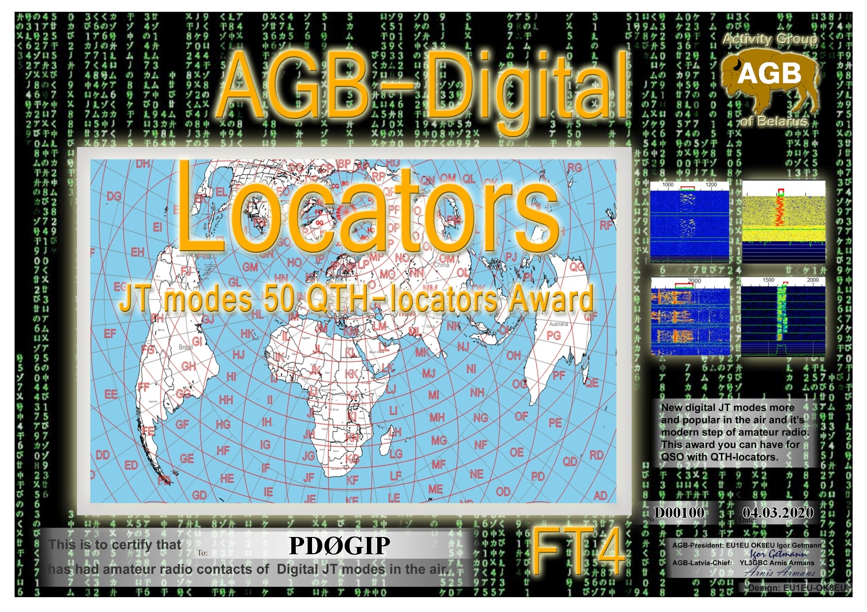 PD0GIP LOCATORS FT4 50 AGB