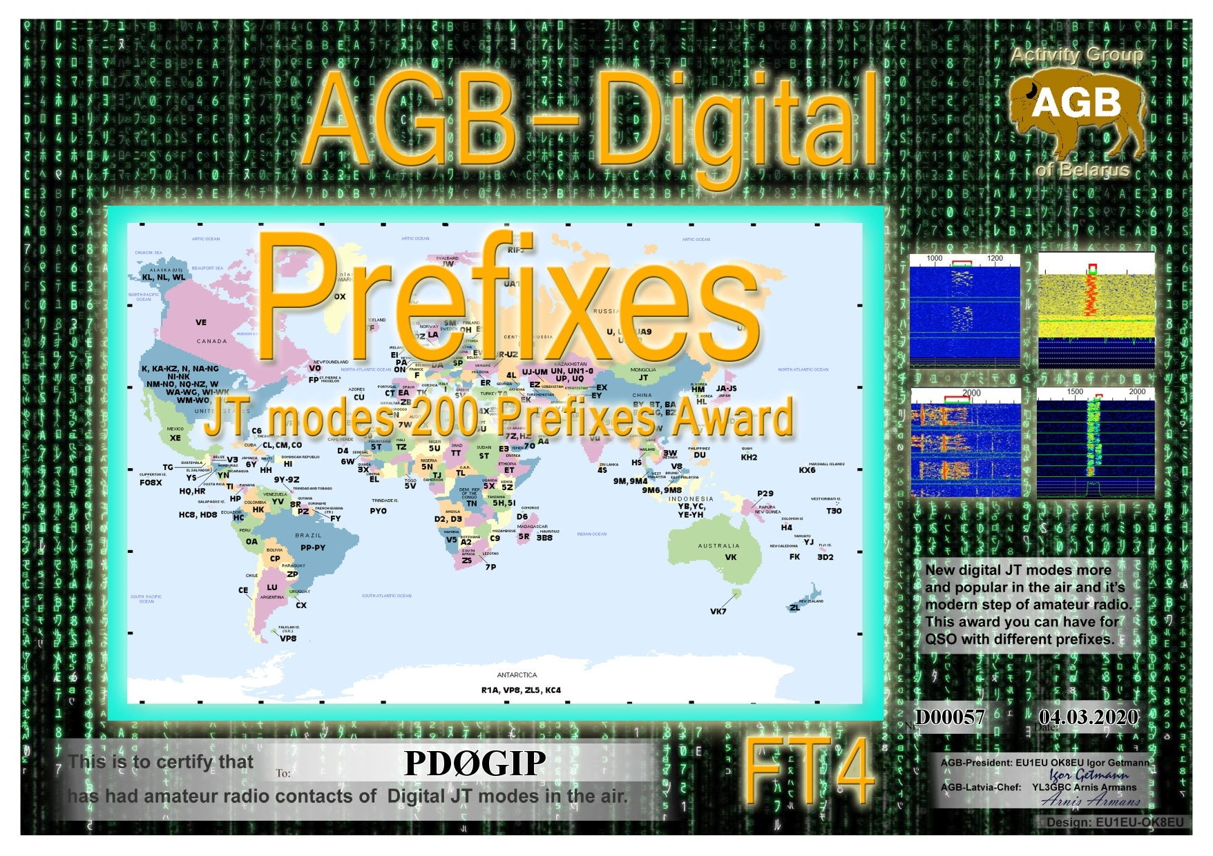 PD0GIP PREFIXES FT4 200 AGB
