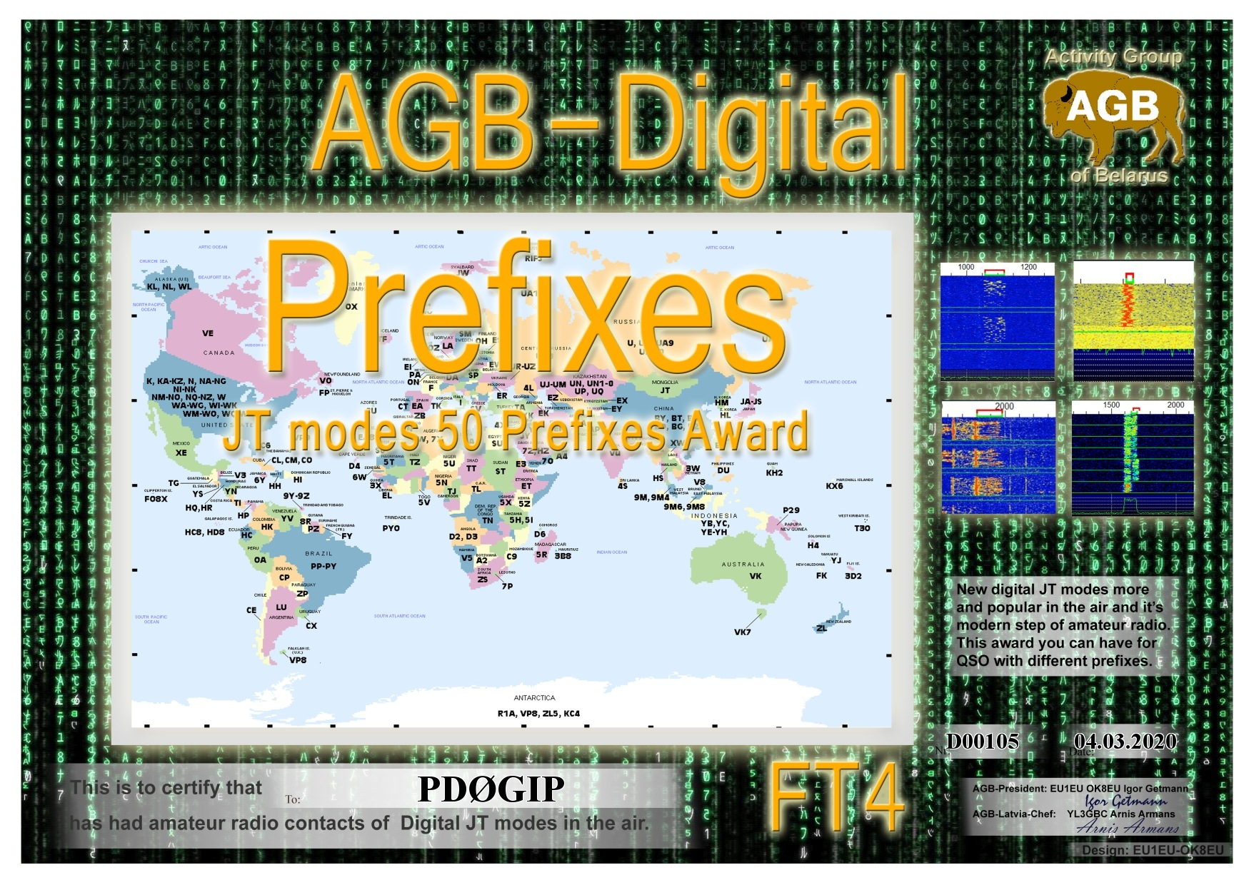 PD0GIP PREFIXES FT4 50 AGB