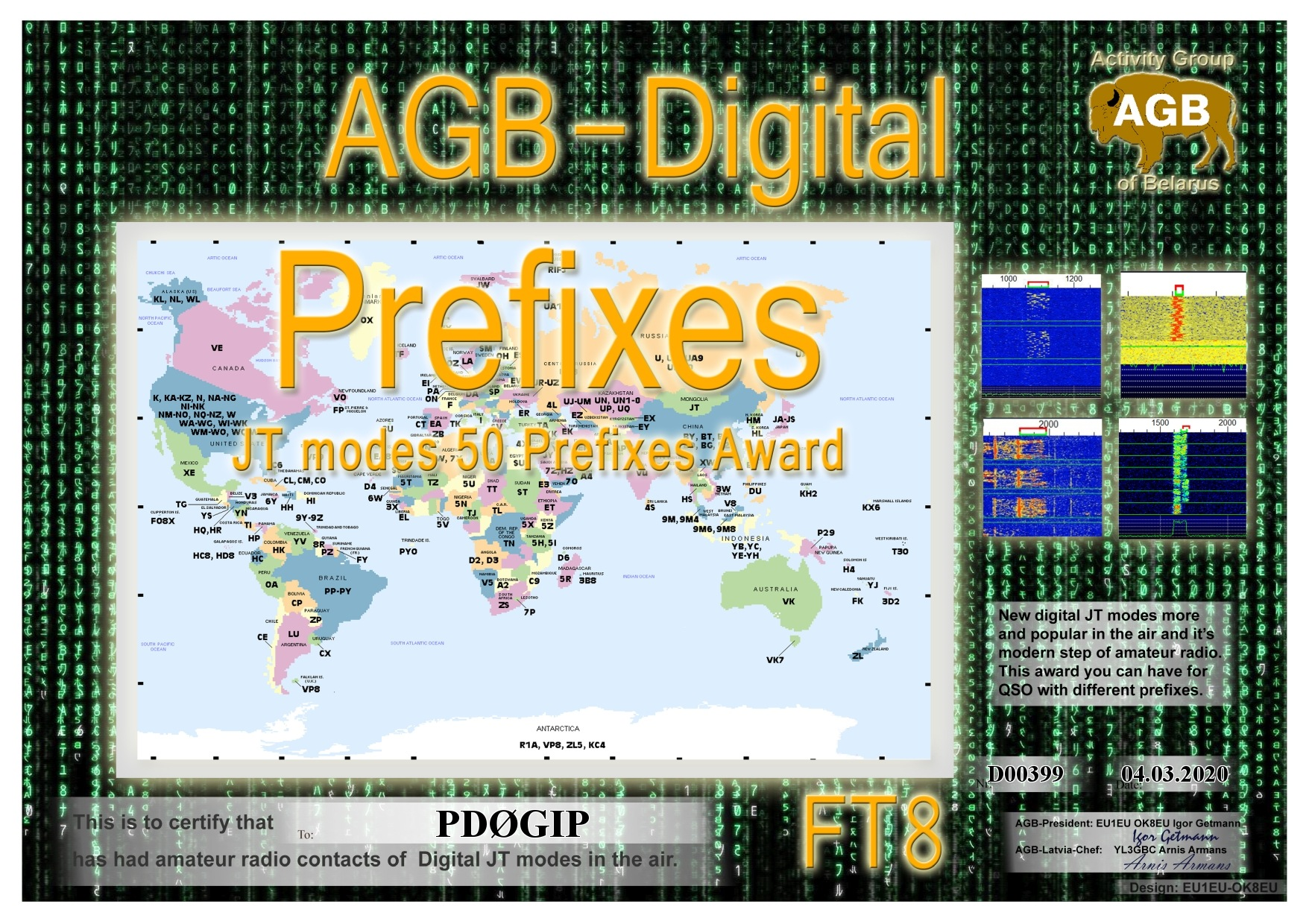 PD0GIP PREFIXES FT8 50 AGB