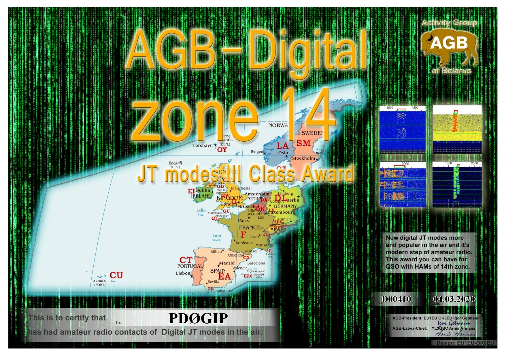 PD0GIP ZONE14 BASIC III AGB