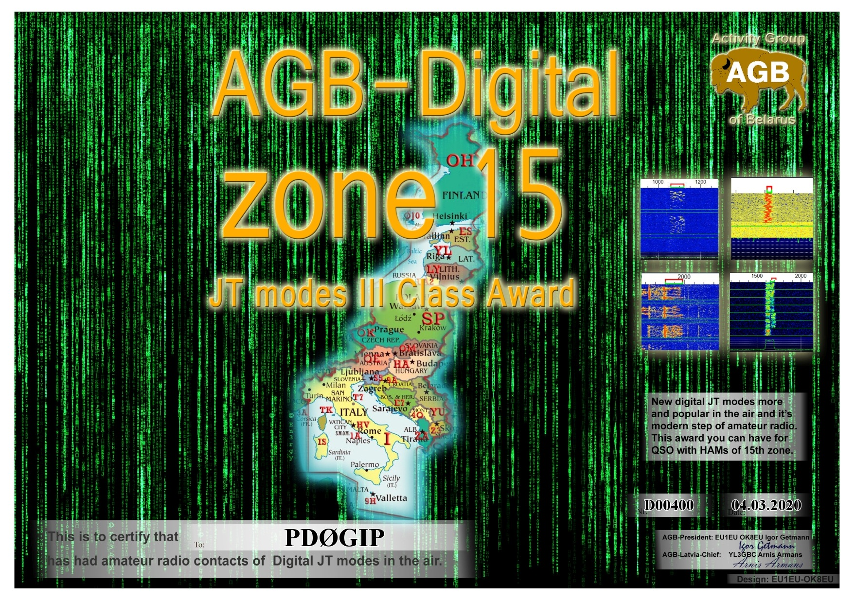 PD0GIP ZONE15 BASIC III AGB