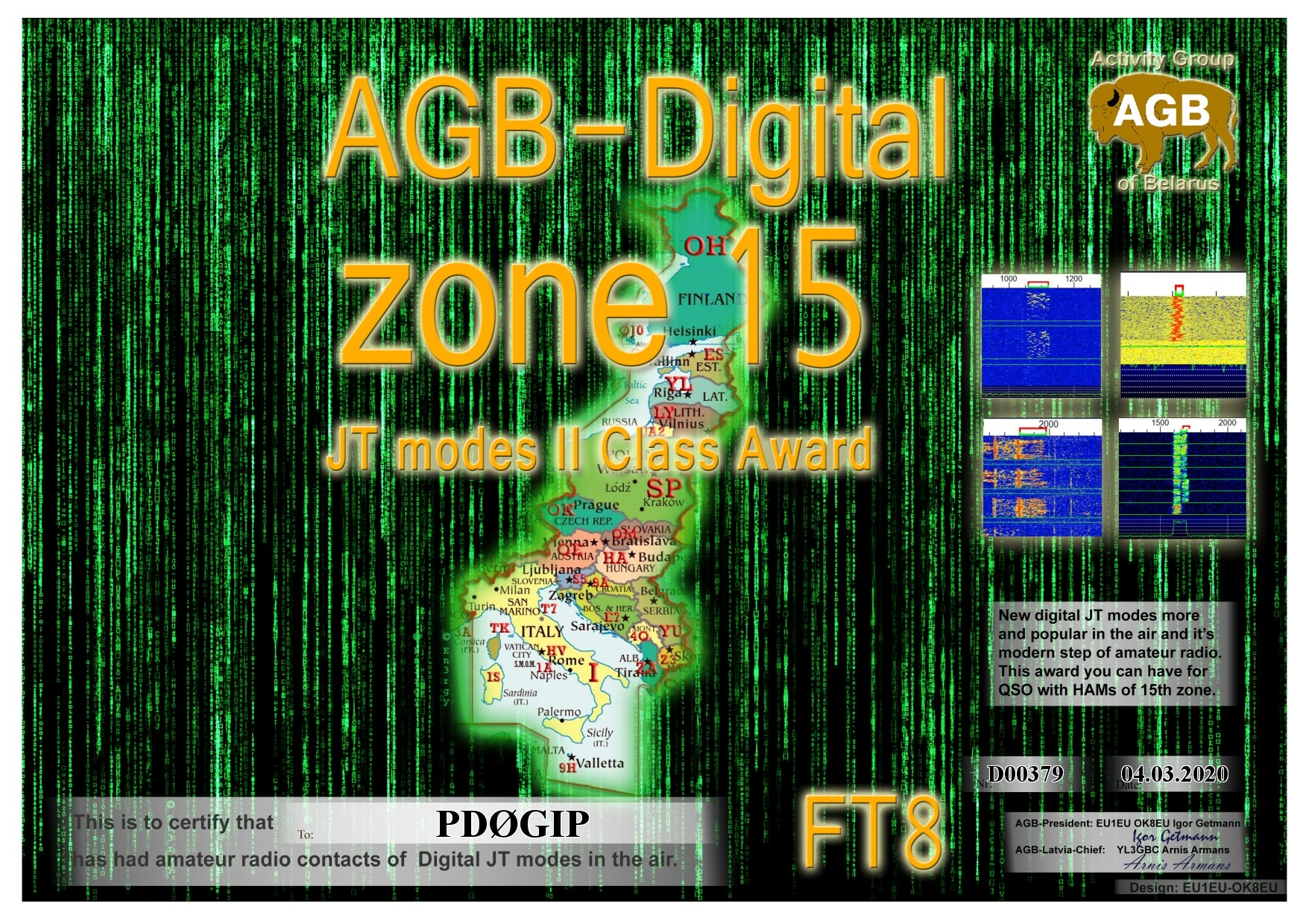 PD0GIP ZONE15 FT8 II AGB