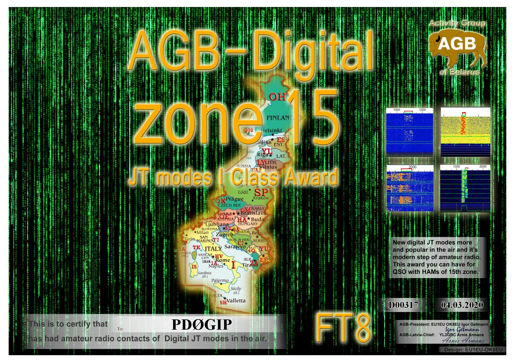 PD0GIP ZONE15 FT8 I AGB