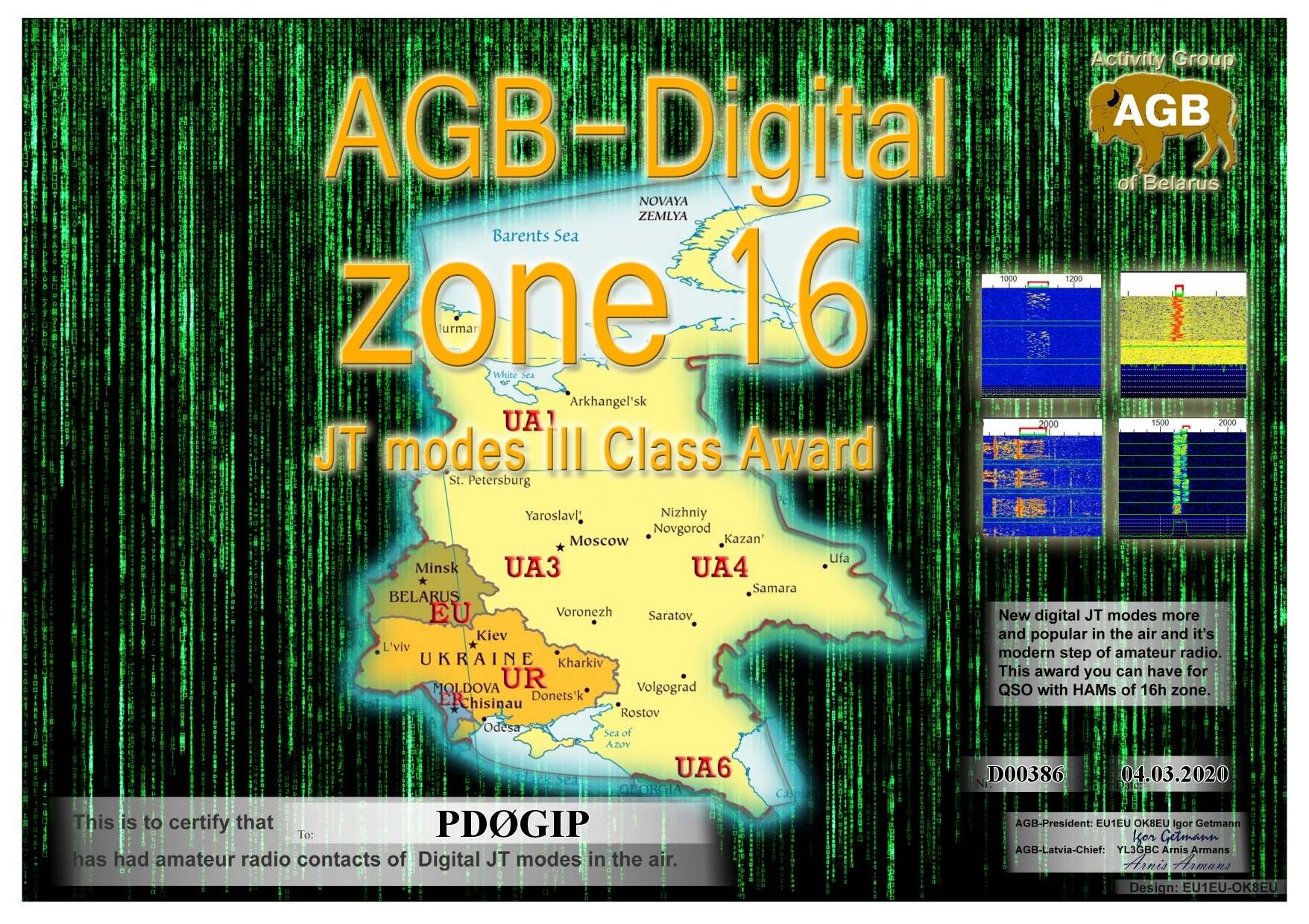 PD0GIP ZONE16 BASIC III AGB