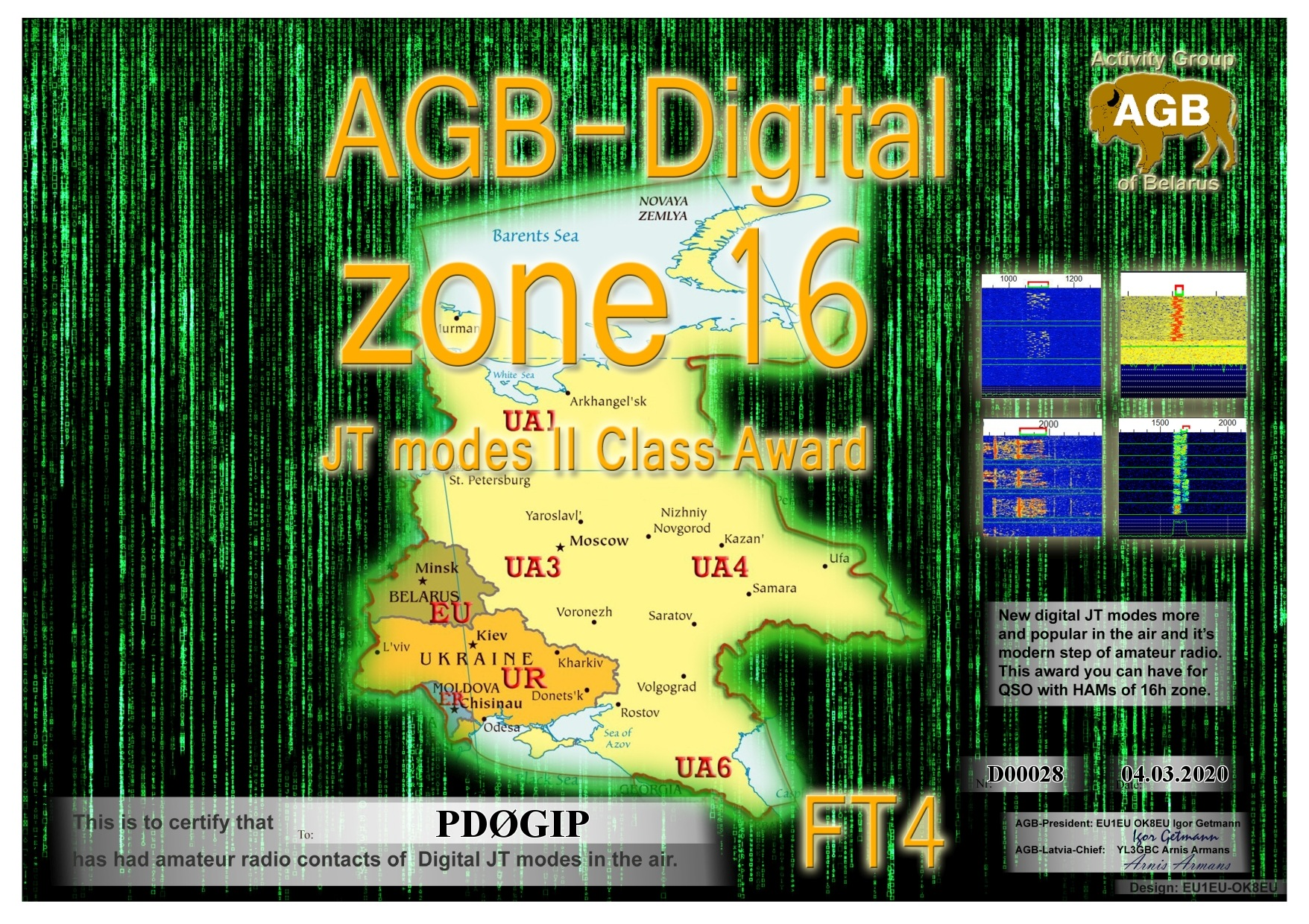 PD0GIP ZONE16 FT4 II AGB
