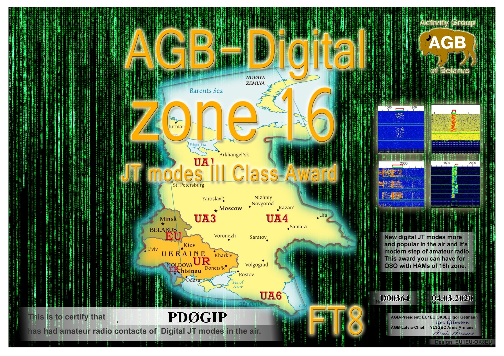 PD0GIP ZONE16 FT8 III AGB