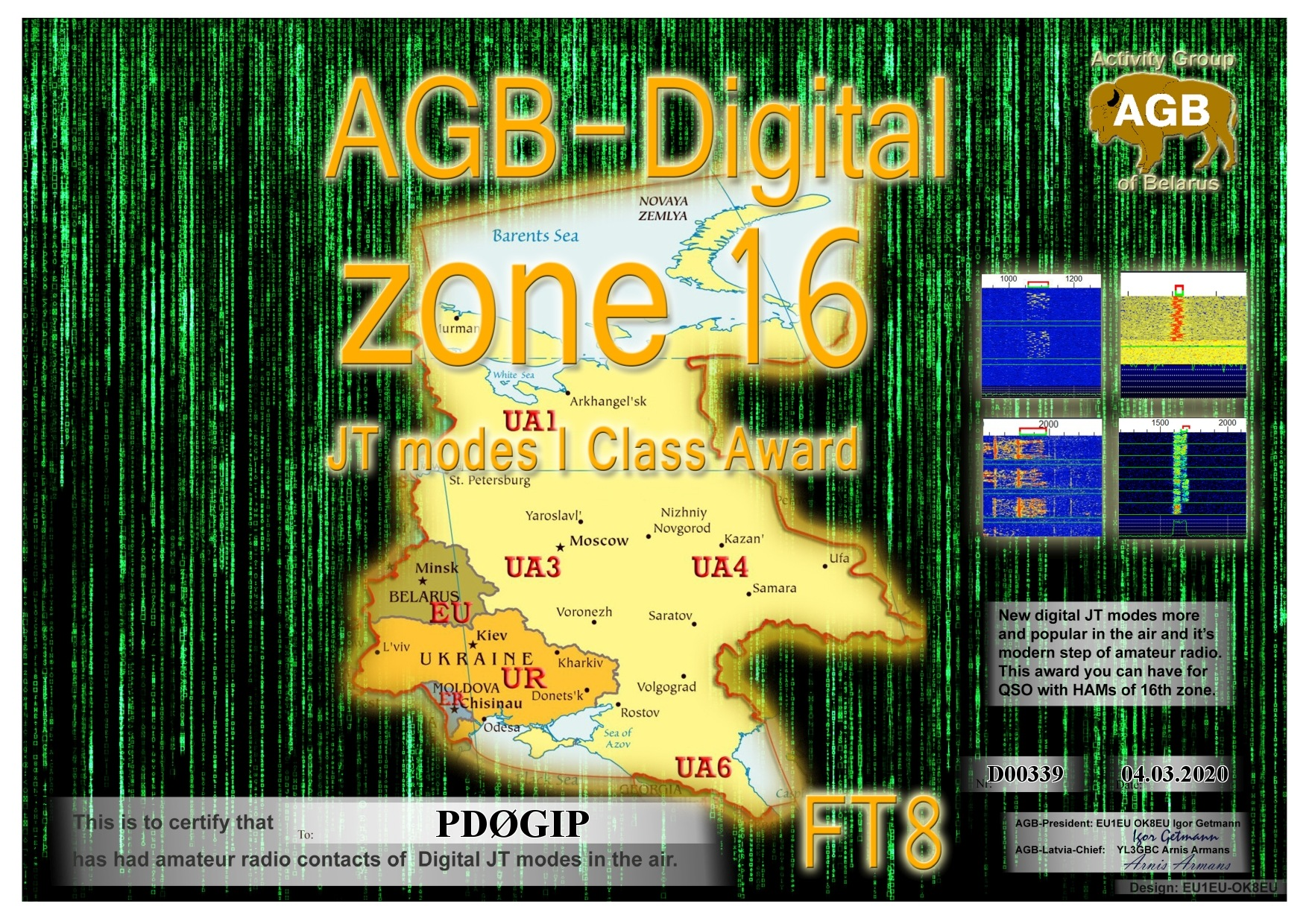 PD0GIP ZONE16 FT8 I AGB
