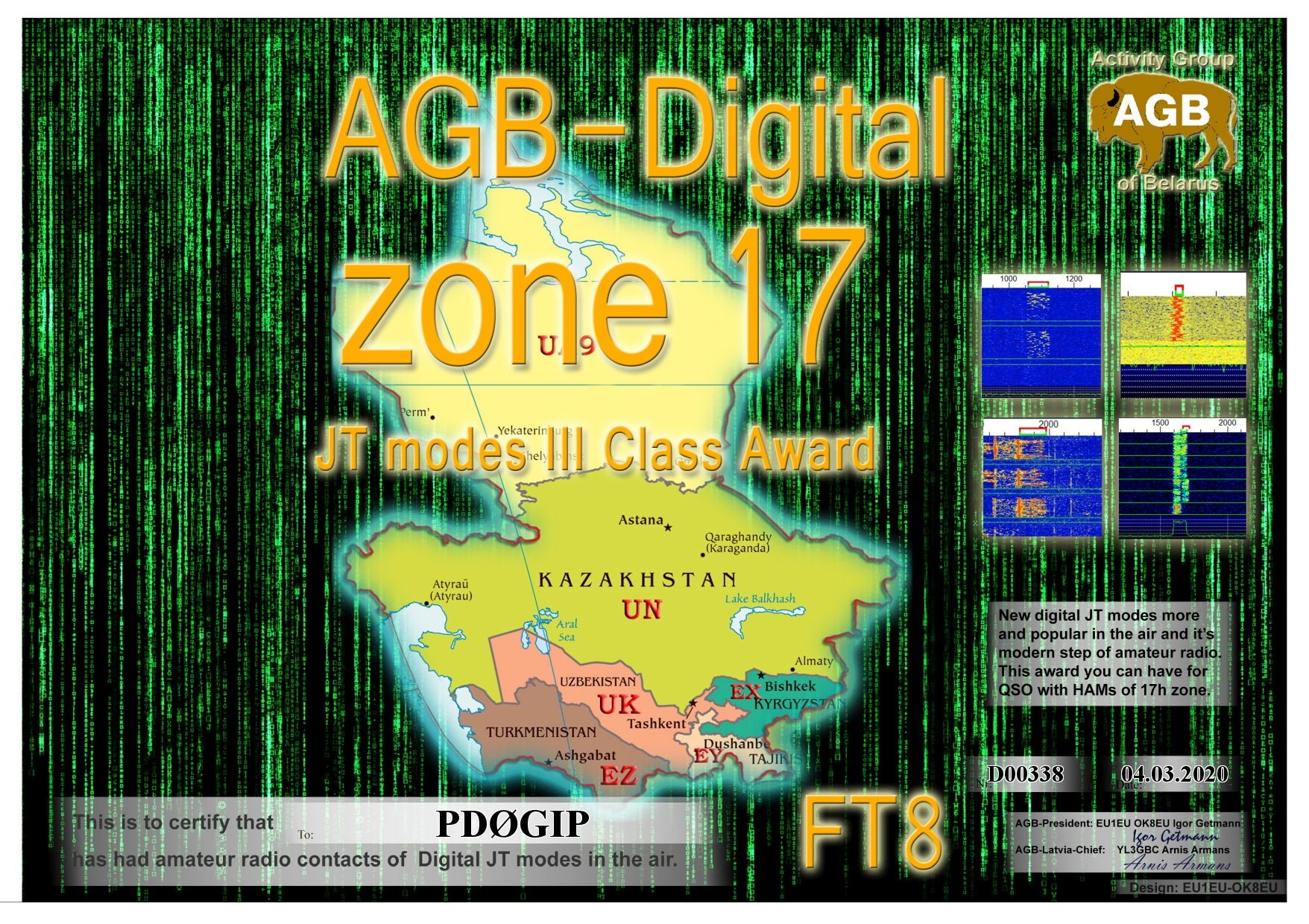 PD0GIP ZONE17 FT8 III AGB