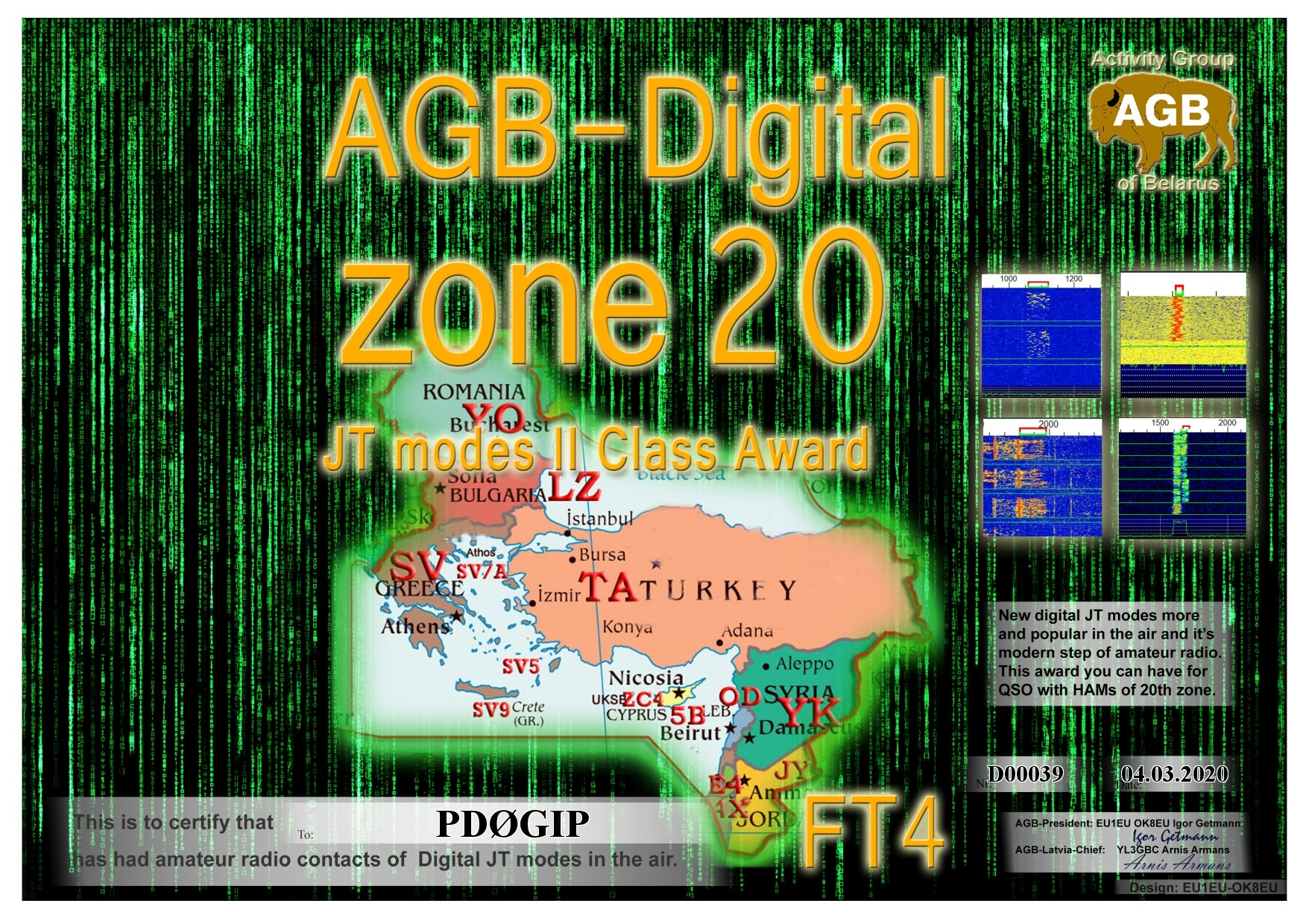 PD0GIP ZONE20 FT4 II AGB