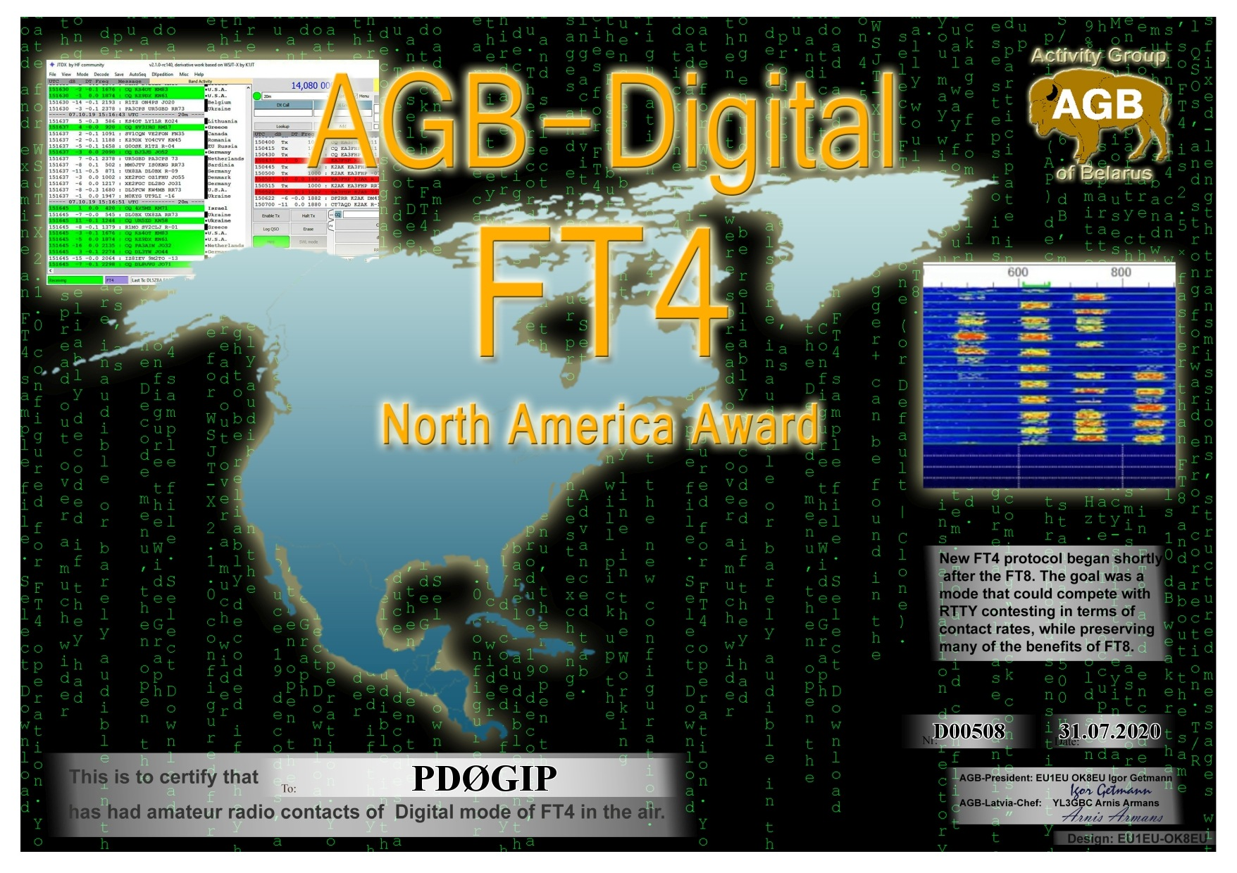 PD0GIP FT4 NORTHAMERICA BASIC AGB