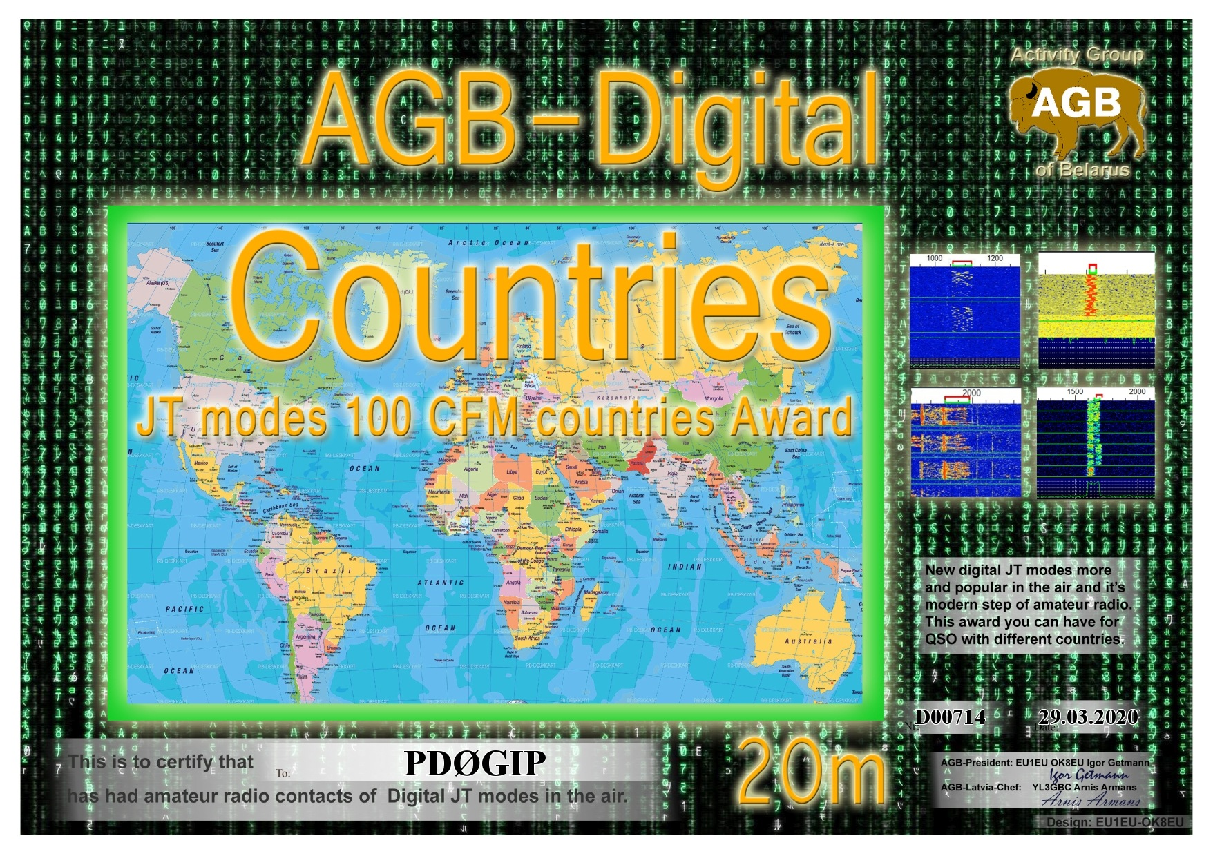 PD0GIP COUNTRIES 20M 100 AGB