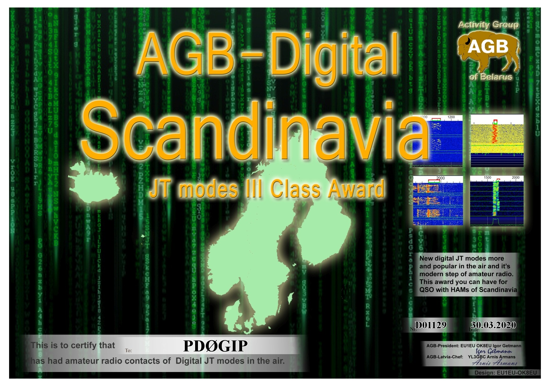 PD0GIP SCANDINAVIA BASIC III AGB