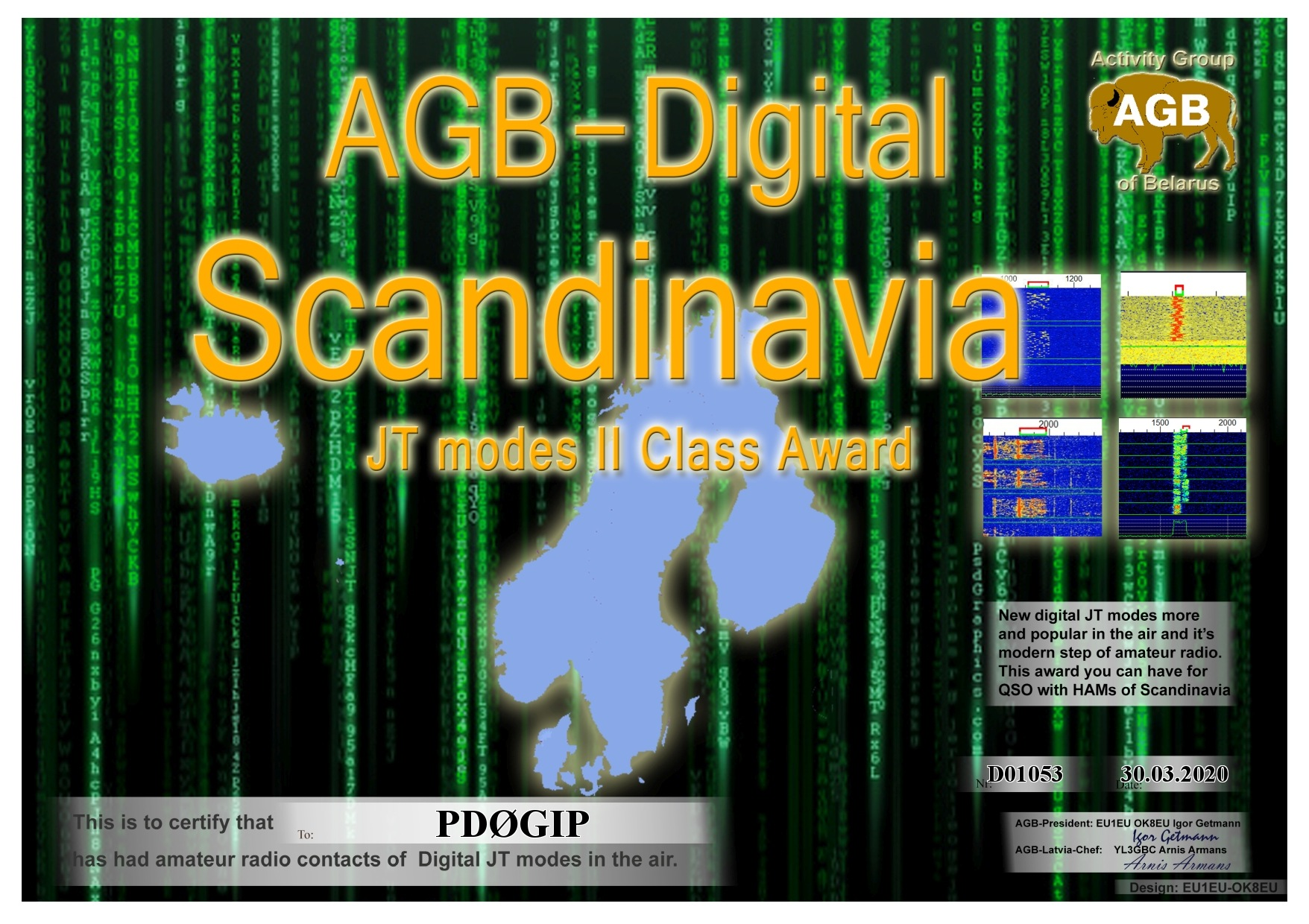 PD0GIP SCANDINAVIA BASIC II AGB