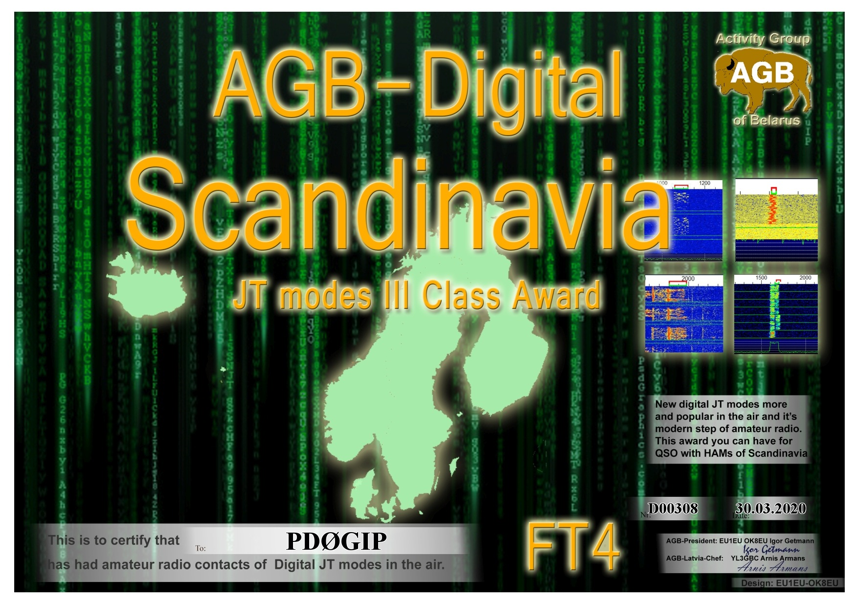 PD0GIP SCANDINAVIA FT4 III AGB