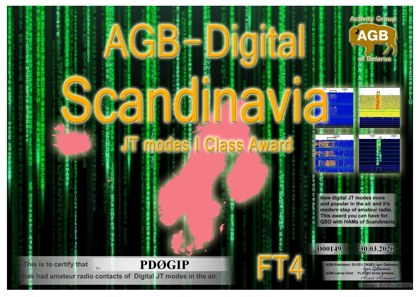 PD0GIP SCANDINAVIA FT4 I AGB
