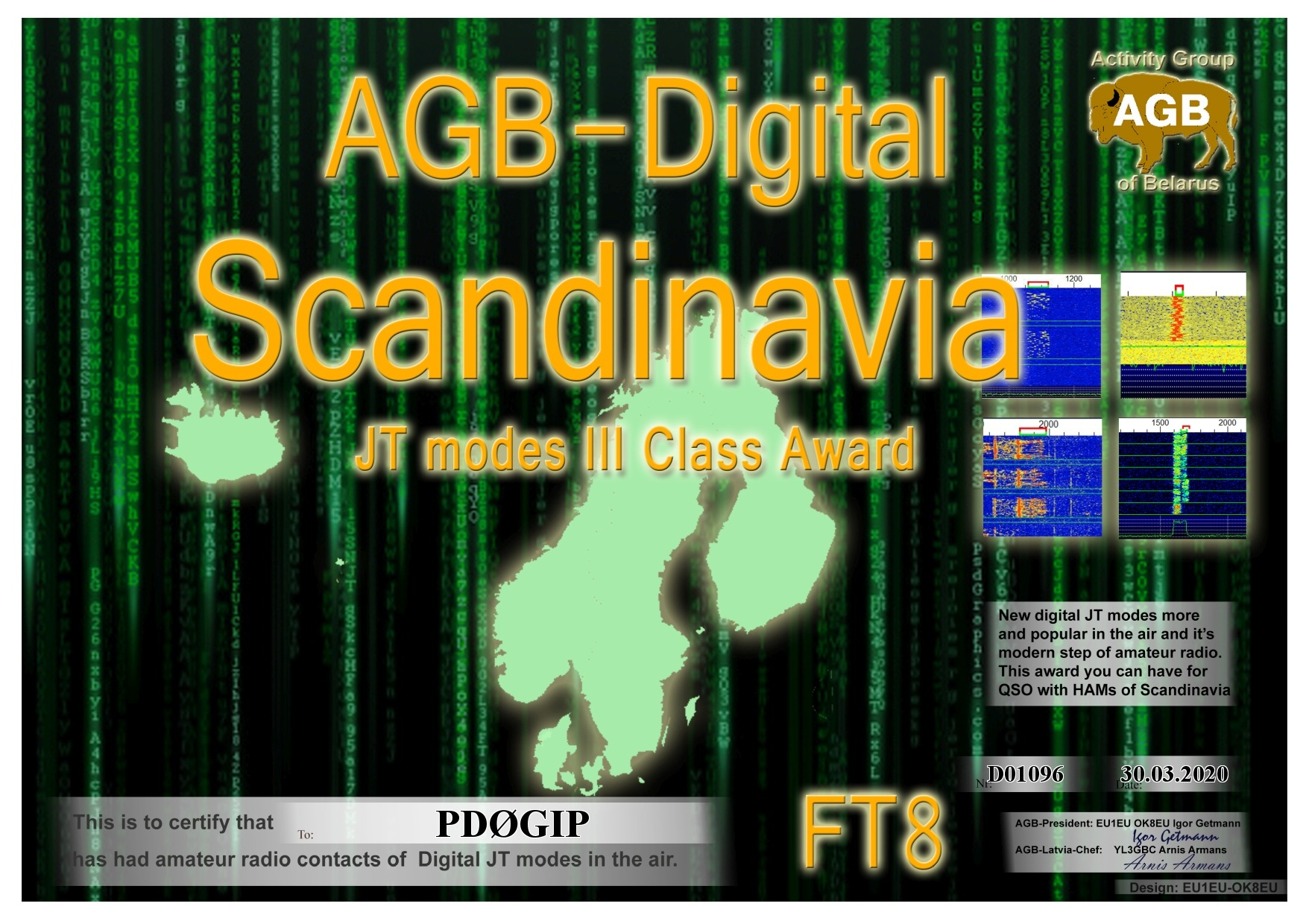 PD0GIP SCANDINAVIA FT8 III AGB