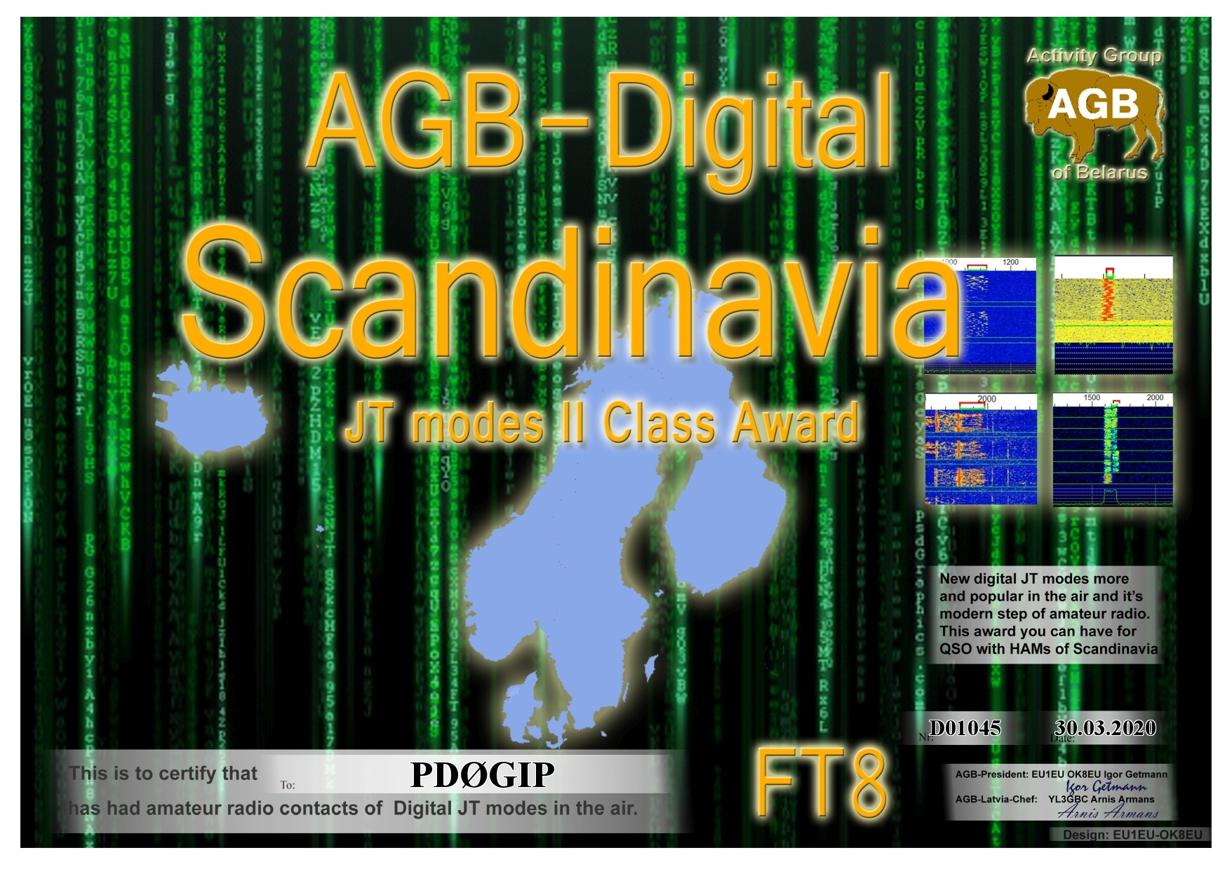 PD0GIP SCANDINAVIA FT8 II AGB