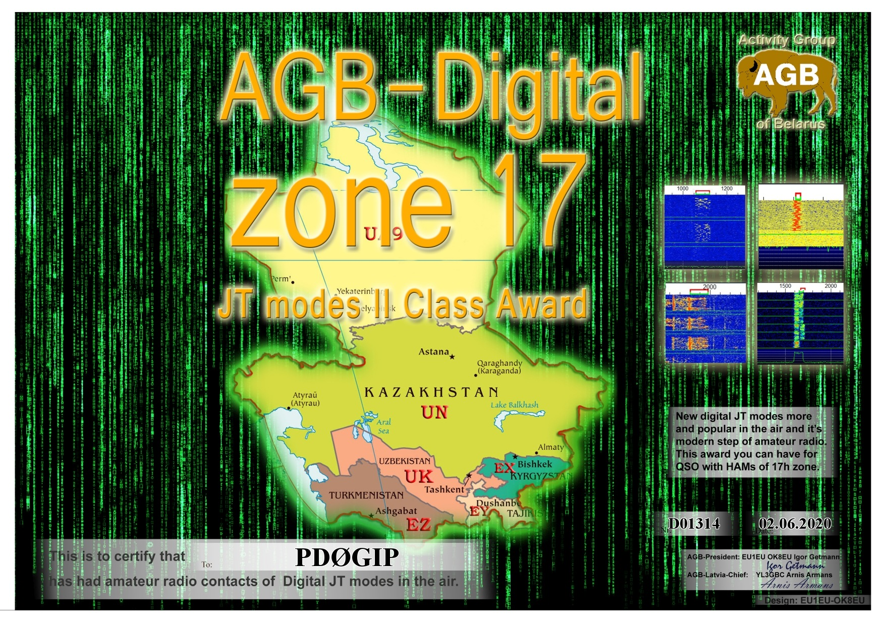PD0GIP ZONE17 BASIC II AGB