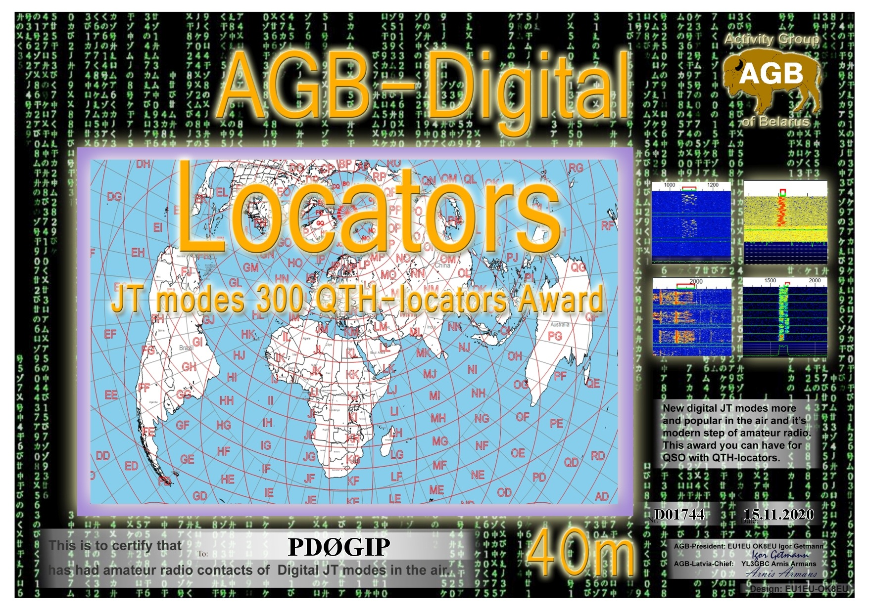 PD0GIP LOCATORS 40M 300 AGB