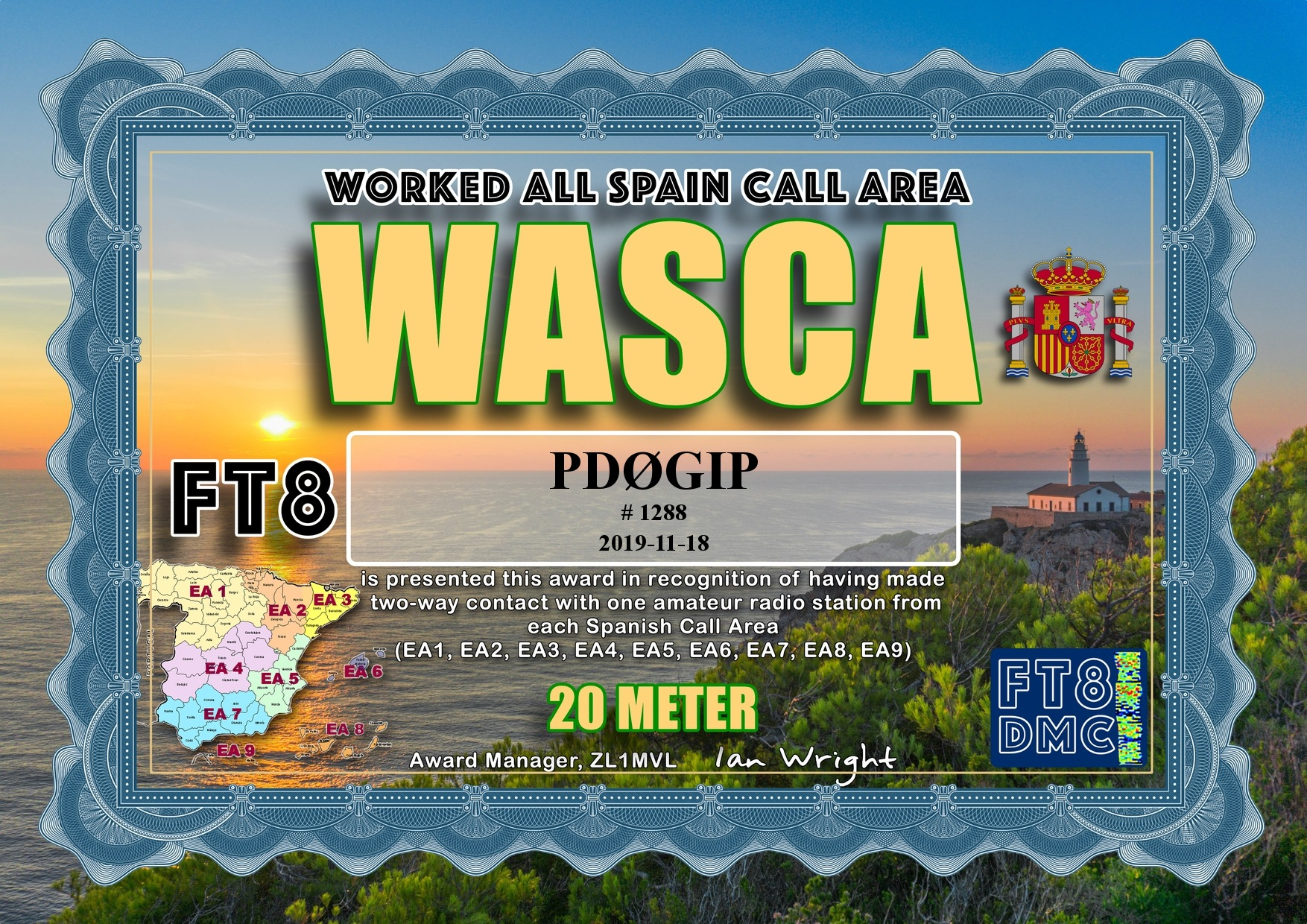 PD0GIP WASCA 20M