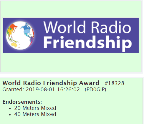 World Radio Friendship Award